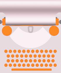 Logo mit Schreibmaschine